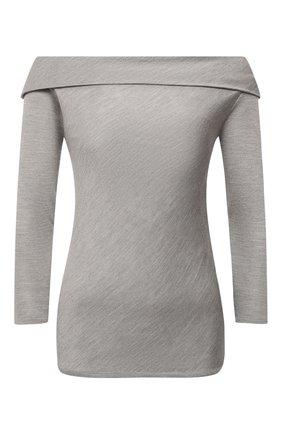 Женский шелковый пуловер RALPH LAUREN серого цвета, арт. 290815891 | Фото 1