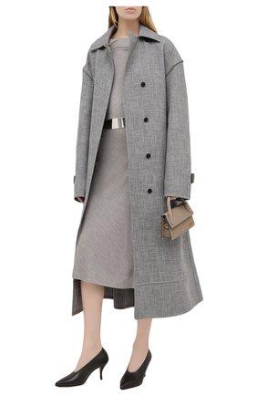Женский шелковый пуловер RALPH LAUREN серого цвета, арт. 290815891 | Фото 2