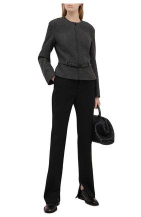 Женский шерстяной жакет RALPH LAUREN серого цвета, арт. 290824230 | Фото 2