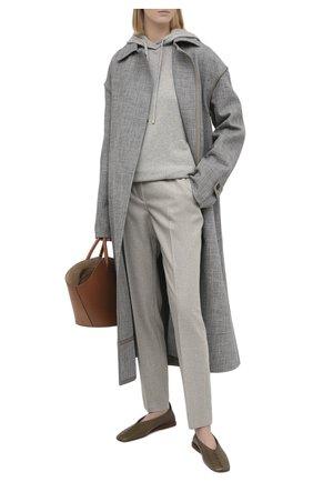 Женские шерстяные брюки RALPH LAUREN серого цвета, арт. 290815849 | Фото 2