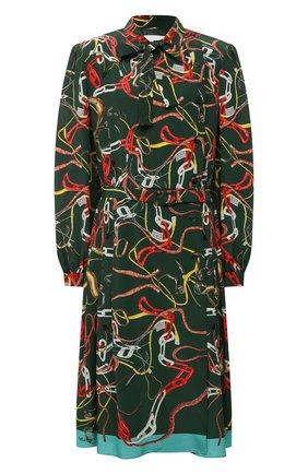 Женское шелковое платье MAISON MARGIELA зеленого цвета, арт. S29CT0977/S53593   Фото 1