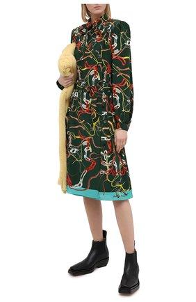 Женское шелковое платье MAISON MARGIELA зеленого цвета, арт. S29CT0977/S53593   Фото 2