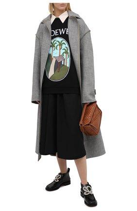Женская хлопковый свитшот LOEWE черного цвета, арт. S897Y24X02 | Фото 2