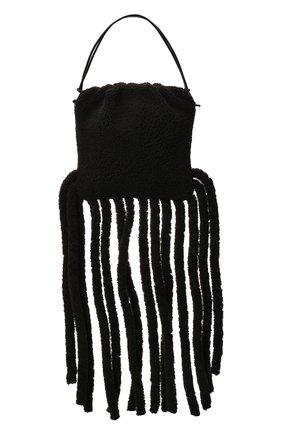 Женский сумка-шопер the fringe BOTTEGA VENETA темно-коричневого цвета, арт. 630363/V03F1 | Фото 1