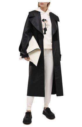 Женская худи из хлопка и вискозы RALPH LAUREN кремвого цвета, арт. 290836366 | Фото 2