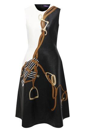 Женское кожаное платье RALPH LAUREN черного цвета, арт. 290823681 | Фото 1