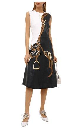 Женское кожаное платье RALPH LAUREN черного цвета, арт. 290823681 | Фото 2