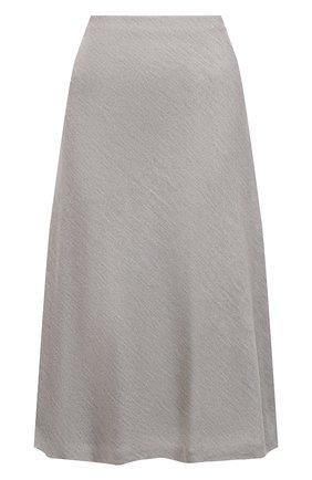Женская шелковая юбка RALPH LAUREN серого цвета, арт. 290815757 | Фото 1
