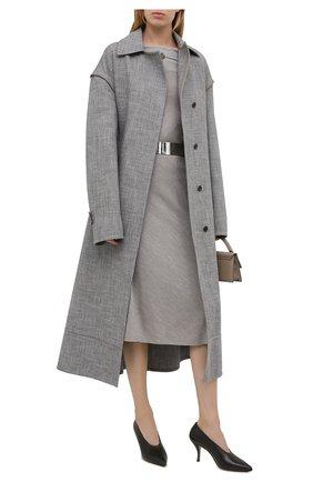 Женская шелковая юбка RALPH LAUREN серого цвета, арт. 290815757 | Фото 2