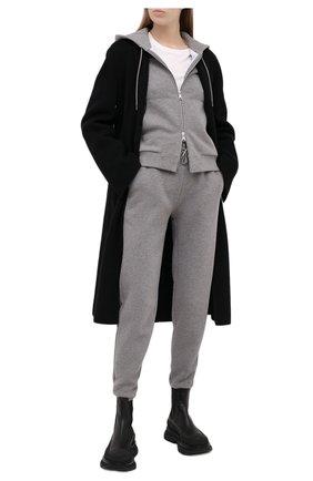 Женские хлопковые джоггеры RALPH LAUREN серого цвета, арт. 290836367 | Фото 2