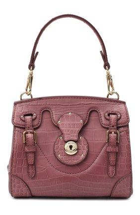 Женская сумка ricky 18 из кожи крокодила RALPH LAUREN темно-розового цвета, арт. 69H/I0G44/RMALL   Фото 1 (Размер: mini; Ремень/цепочка: На ремешке; Сумки-технические: Сумки top-handle, Сумки через плечо)