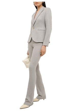 Женский шерстяной жакет RALPH LAUREN серого цвета, арт. 290815785 | Фото 2