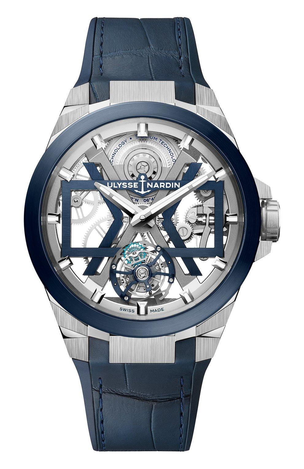 Мужские часы blast ULYSSE NARDIN синего цвета, арт. 1723-400/03   Фото 1