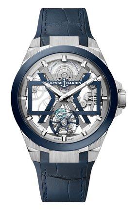 Мужские часы blast ULYSSE NARDIN синего цвета, арт. 1723-400/03 | Фото 1