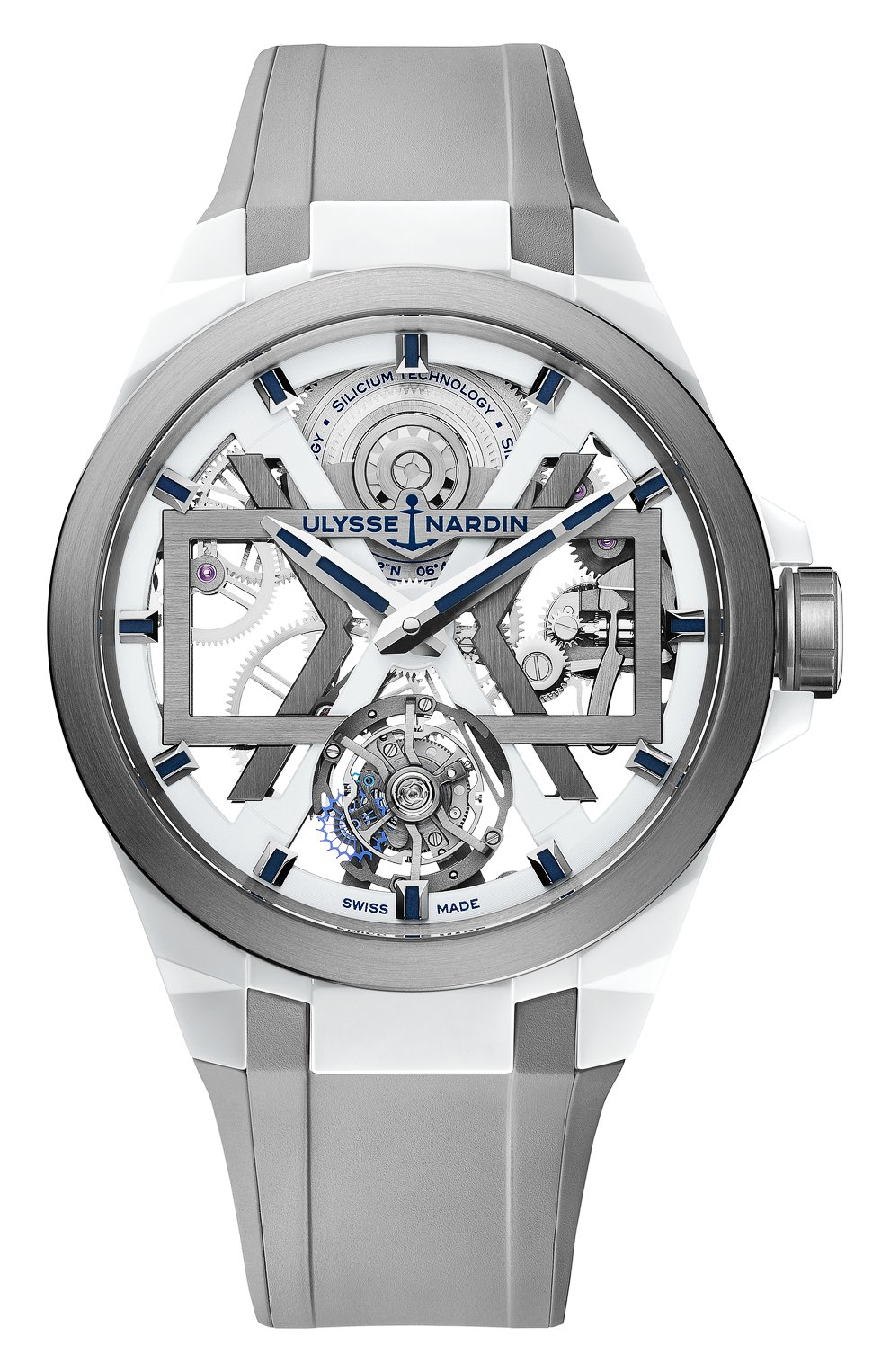 Мужские часы blast ULYSSE NARDIN белого цвета, арт. 1723-400-3A/00 | Фото 1