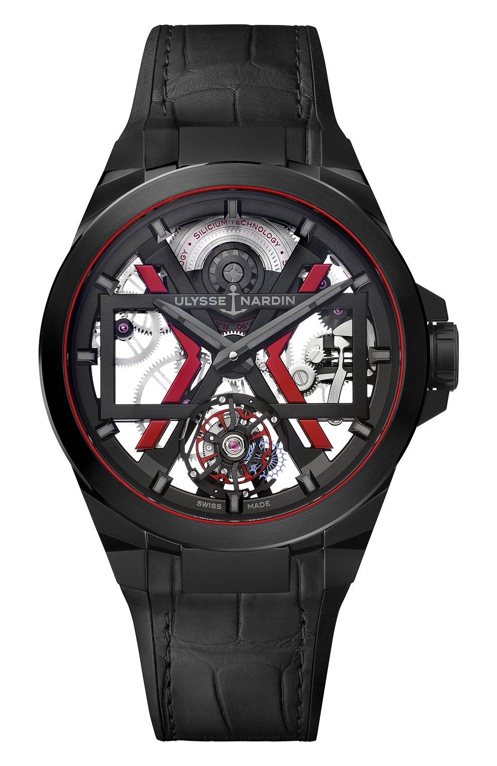 Мужские часы blast ULYSSE NARDIN черного цвета, арт. 1723-400-3A/BLACK | Фото 1