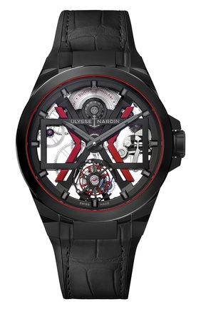 Мужские часы blast ULYSSE NARDIN черного цвета, арт. 1723-400-3A/BLACK   Фото 1