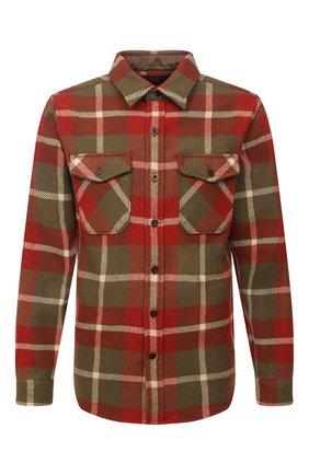 Мужская шерстяная рубашка RRL разноцветного цвета, арт. 782799942 | Фото 1