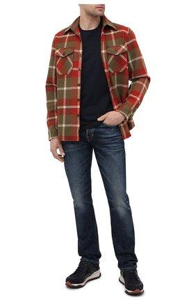 Мужская шерстяная рубашка RRL разноцветного цвета, арт. 782799942 | Фото 2