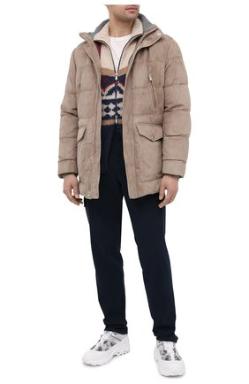 Мужской кардиган из шерсти и кашемира BRUNELLO CUCINELLI разноцветного цвета, арт. M2B38806 | Фото 2 (Длина (для топов): Стандартные; Рукава: Длинные; Материал внешний: Шерсть; Мужское Кросс-КТ: Кардиган-одежда; Стили: Кэжуэл)