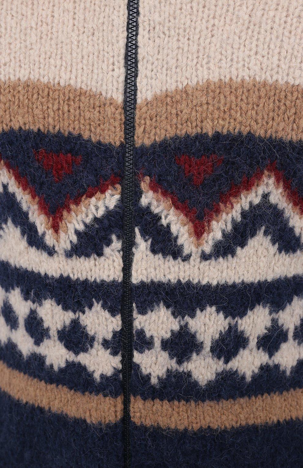 Мужской кардиган из шерсти и кашемира BRUNELLO CUCINELLI разноцветного цвета, арт. M2B38806   Фото 5
