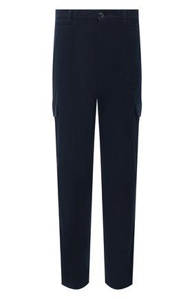 Мужской хлопковые брюки-карго BRUNELLO CUCINELLI синего цвета, арт. M271DS1980 | Фото 1