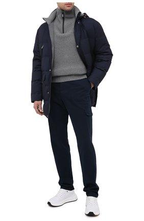 Мужской хлопковые брюки-карго BRUNELLO CUCINELLI синего цвета, арт. M271DS1980 | Фото 2