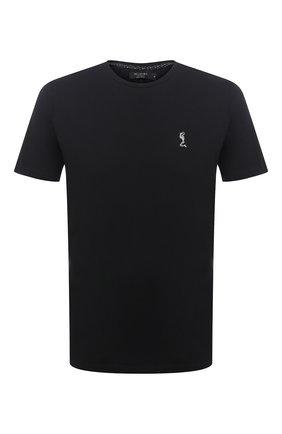 Мужская хлопковая футболка RELIGION черного цвета, арт. 30BBUN03   Фото 1 (Материал внешний: Хлопок; Рукава: Короткие; Длина (для топов): Стандартные; Принт: С принтом; Мужское Кросс-КТ: Футболка-одежда; Стили: Гранж, Панк)