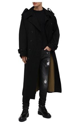 Мужская хлопковая футболка RELIGION черного цвета, арт. 30BBUN03   Фото 2 (Материал внешний: Хлопок; Рукава: Короткие; Длина (для топов): Стандартные; Принт: С принтом; Мужское Кросс-КТ: Футболка-одежда; Стили: Гранж, Панк)