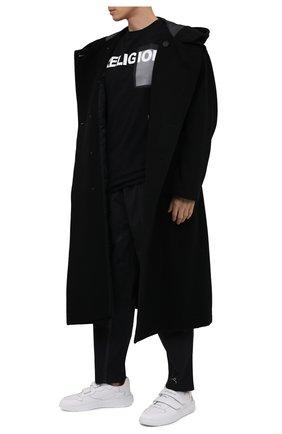Мужская хлопковая футболка RELIGION черного цвета, арт. 30PVSN04   Фото 2