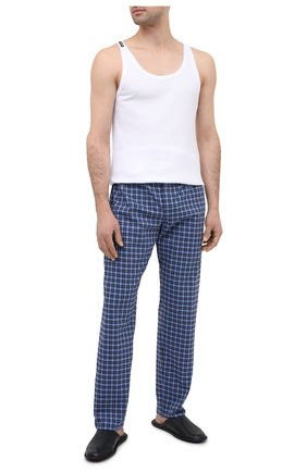 Мужские домашние брюки из хлопка и шерсти ROBERTO RICETTI синего цвета, арт. PANTAPA PIGIAMA/C2504 | Фото 2