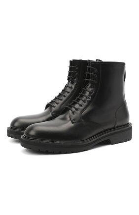Мужские кожаные ботинки DRIES VAN NOTEN черного цвета, арт. MW28/035/QU115 | Фото 1
