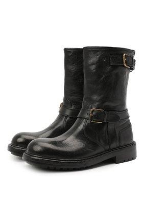 Мужские кожаные сапоги DOLCE & GABBANA черного цвета, арт. A70032/AW352 | Фото 1