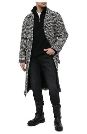 Мужские кожаные сапоги DOLCE & GABBANA черного цвета, арт. A70032/AW352 | Фото 2