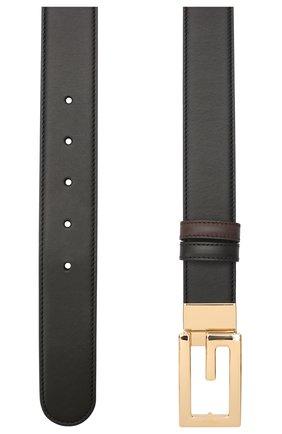 Мужской кожаный ремень GUCCI черного цвета, арт. 626974/AP0BG | Фото 2