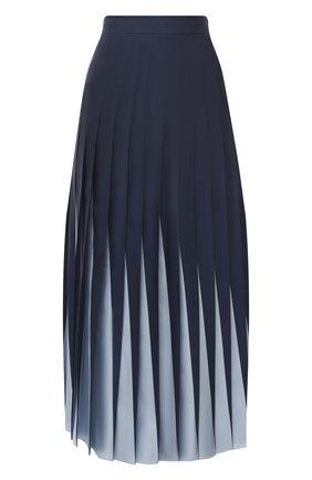 Женская шелковая юбка VALENTINO голубого цвета, арт. UB3RA6E05P0 | Фото 1