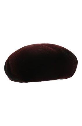 Женский берет из меха норки FURLAND бордового цвета, арт. 0003800150013300000 | Фото 1