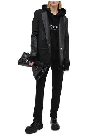 Женская хлопковое худи 404 NOT FOUND черного цвета, арт. 460102 | Фото 2