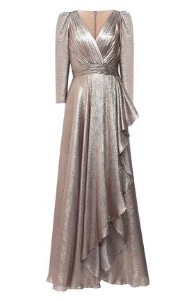 Женское шелковое платье ZUHAIR MURAD золотого цвета, арт. DRP20012/CHLU003 | Фото 1