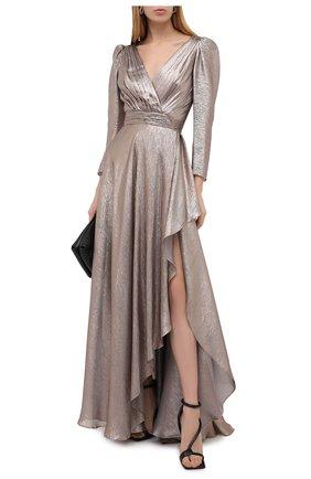 Женское шелковое платье ZUHAIR MURAD золотого цвета, арт. DRP20012/CHLU003 | Фото 2