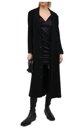 Женское шелковое платье RTA черного цвета, арт. WU0332-6059BLK | Фото 2