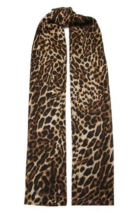 Мужские кашемировый шарф RALPH LAUREN коричневого цвета, арт. 434819472 | Фото 1