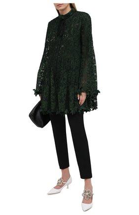 Женская блузка OSCAR DE LA RENTA зеленого цвета, арт. 20PN7102GRL | Фото 2