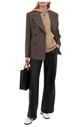 Женский кашемировый кардиган BURBERRY бежевого цвета, арт. 8038021 | Фото 2