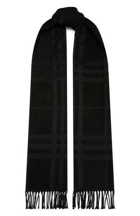 Женский шелковый платок BURBERRY черного цвета, арт. 8035903 | Фото 1