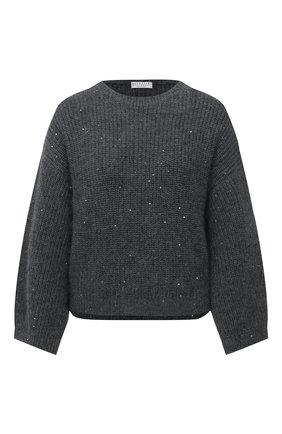 Женский свитер BRUNELLO CUCINELLI темно-серого цвета, арт. M8M559000 | Фото 1