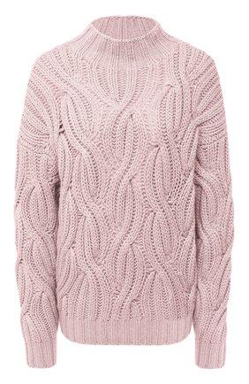 Женский кашемировый свитер BRUNELLO CUCINELLI розового цвета, арт. M52362504   Фото 1
