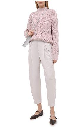 Женский кашемировый свитер BRUNELLO CUCINELLI розового цвета, арт. M52362504   Фото 2