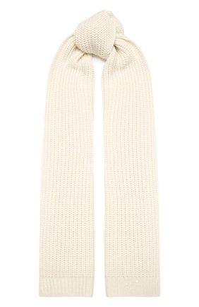 Мужские шарф из кашемира и шелка BRUNELLO CUCINELLI белого цвета, арт. M32373989 | Фото 1