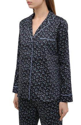 Женская хлопковая пижама YOLKE синего цвета, арт. SS21-02C-LP-DE | Фото 2